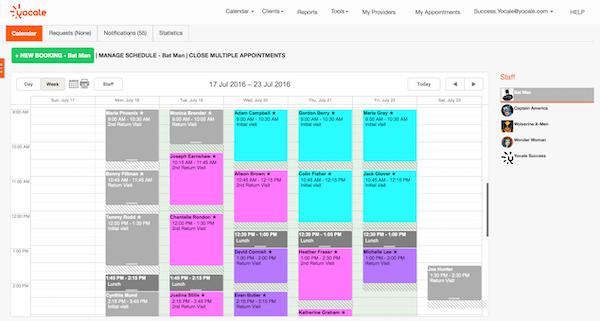 Provider calendar