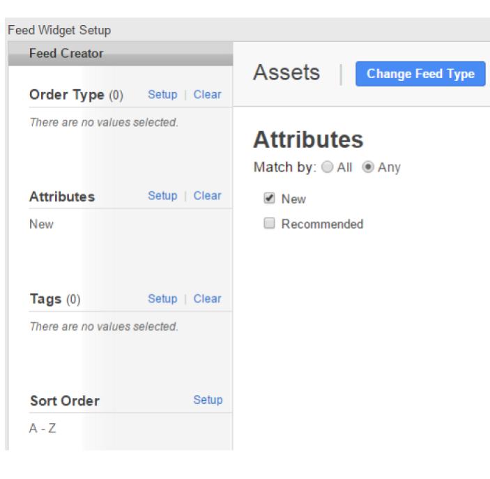 Asset feeds