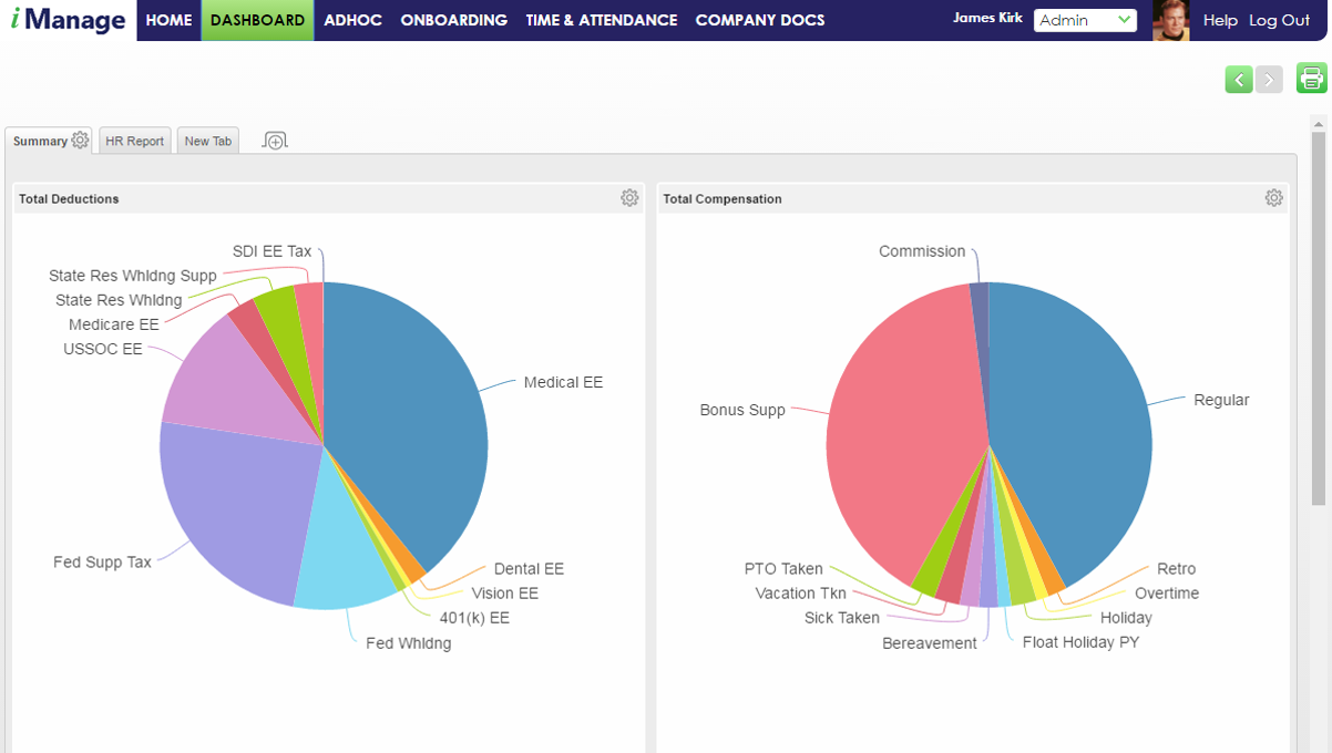 iManage by Corporate Business Solutions - Dashboard