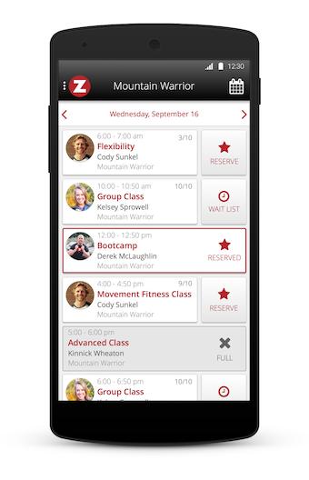Member app schedules