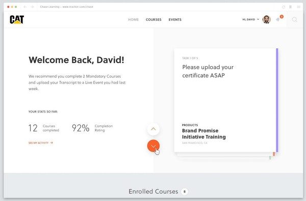 Travitor - Student dashboard
