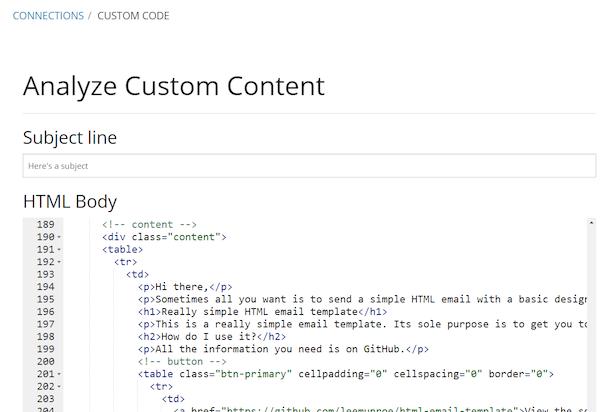 Custom code