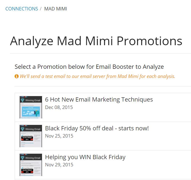 Mad Mimi analysis