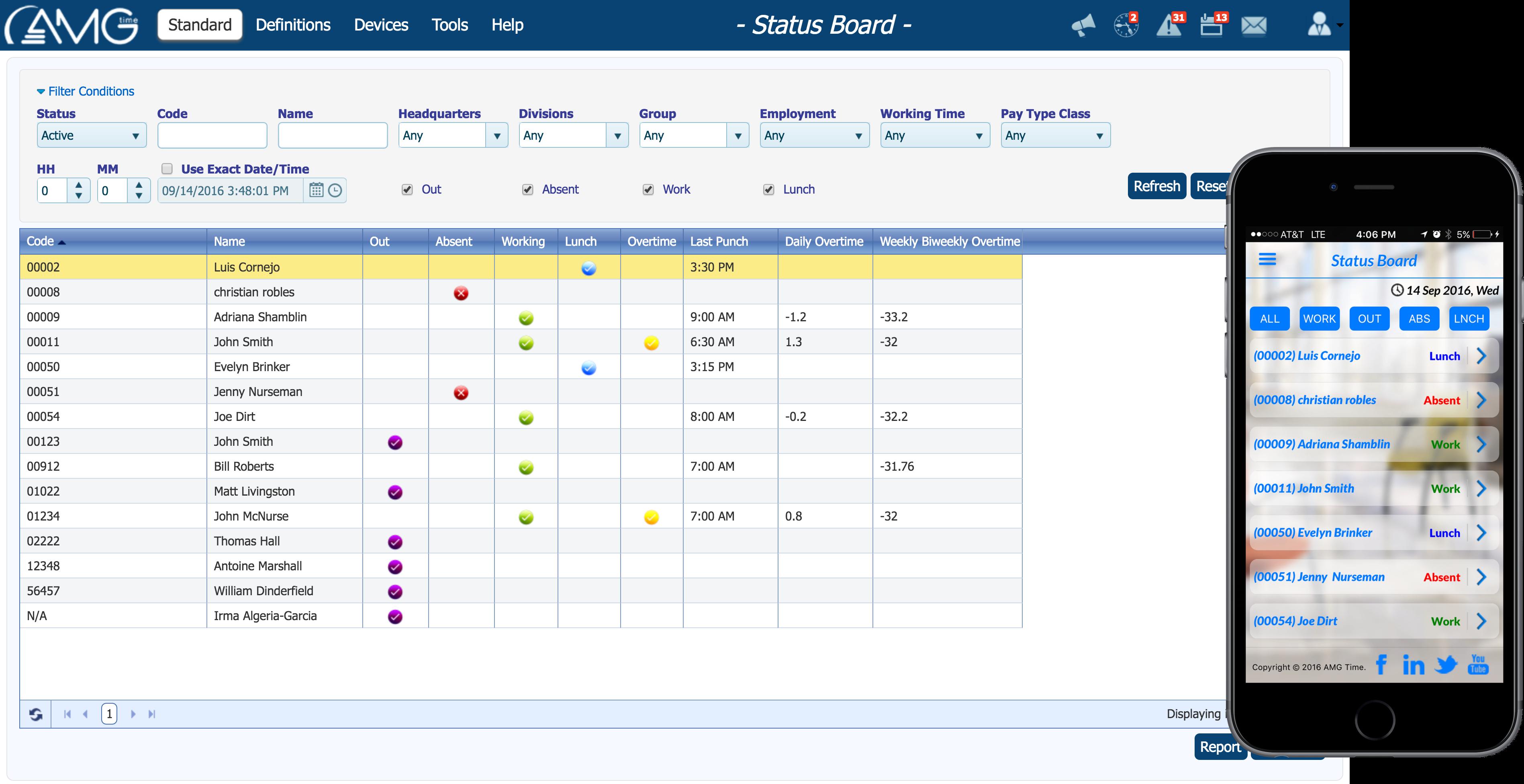 Status board