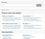 Knowledge base and community forums