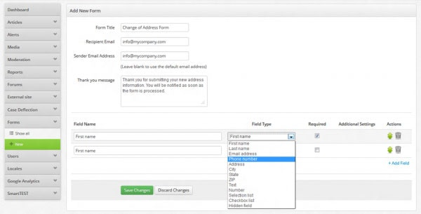 SmartSupport - Creating a Custom Form in SmartSupport