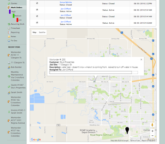 GPS tracking and history