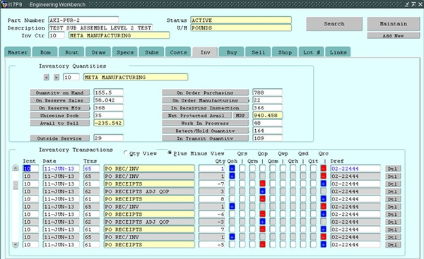 ICIM ERP by Metasystems - Engineering Workbench