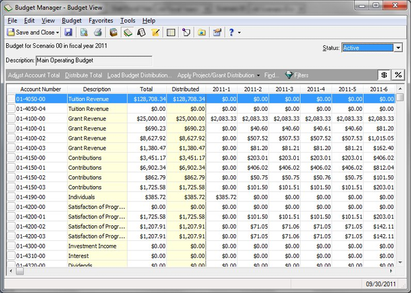 Budgeting tools