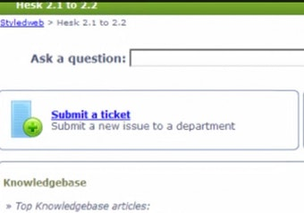 Ticket submission