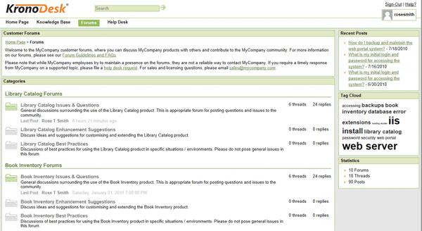 Create online forums