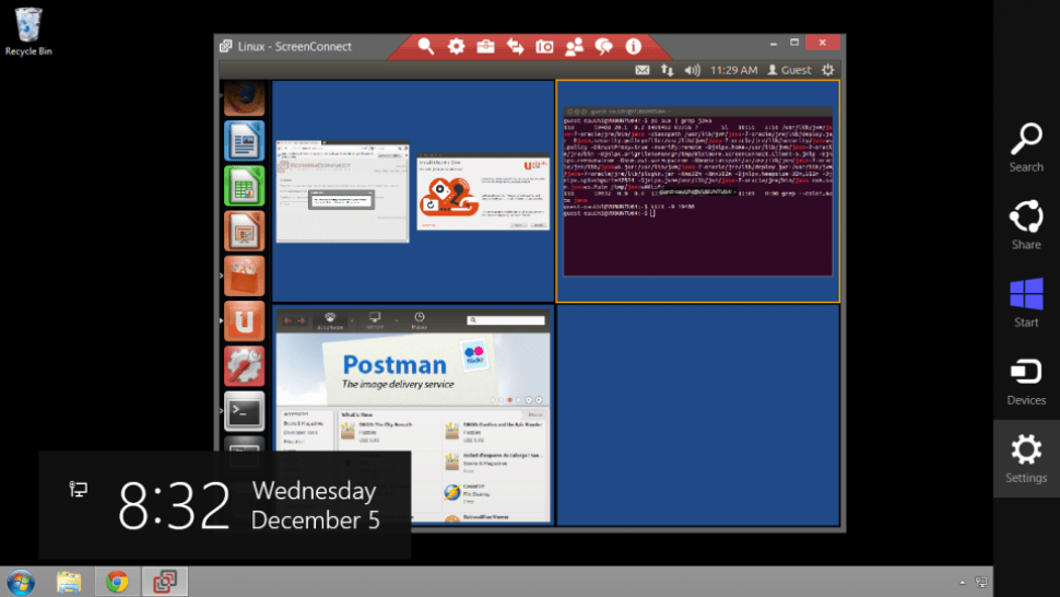 Linux view