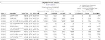FAM Depreciation Report