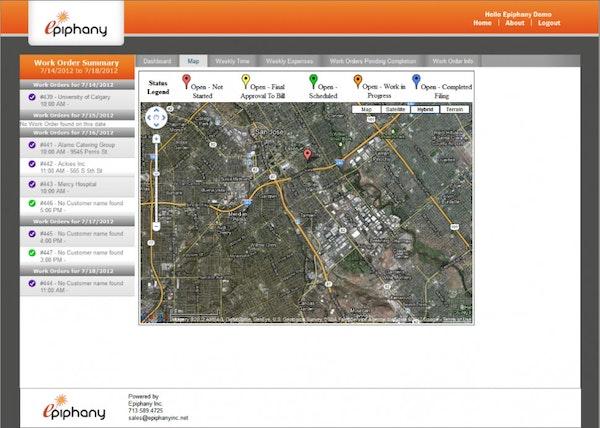 e-Service Suite - Map