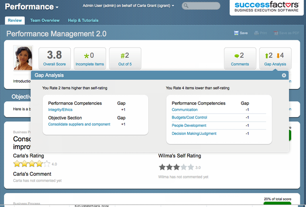 SuccessFactors gap analysis review