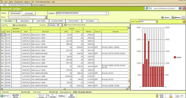 Accounts ledger