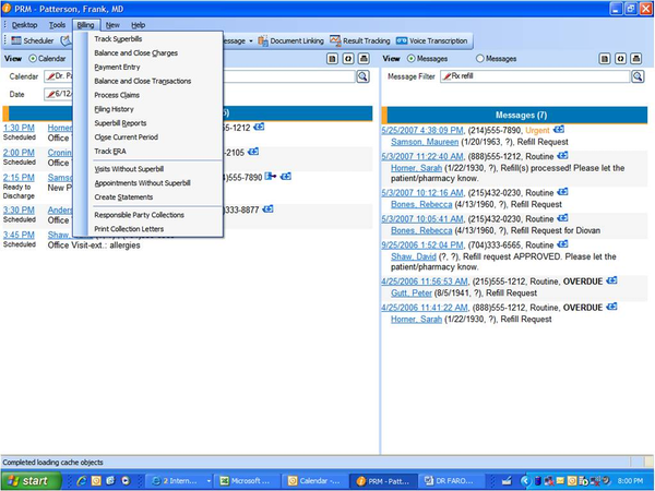 Aprima EHR - Single Application