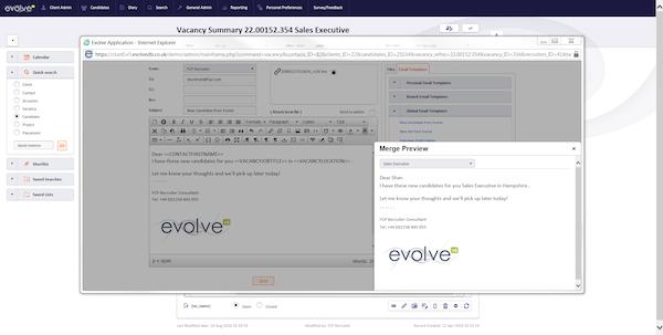 Email via Evolve