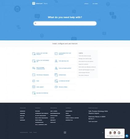 Intercom knowledge base