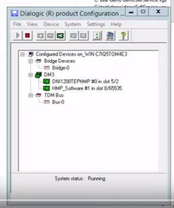 Dialogic configuration manager