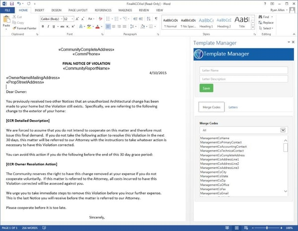 Form Letters Powered by MS Word
