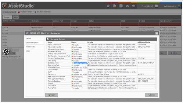 Software license details