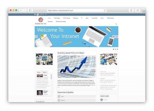 MyHub Home page