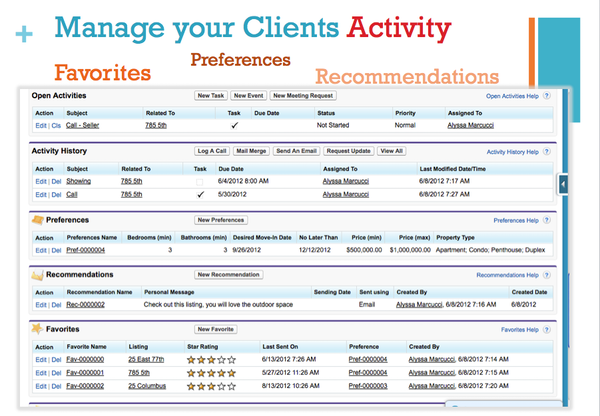 Manage your Clients Activity