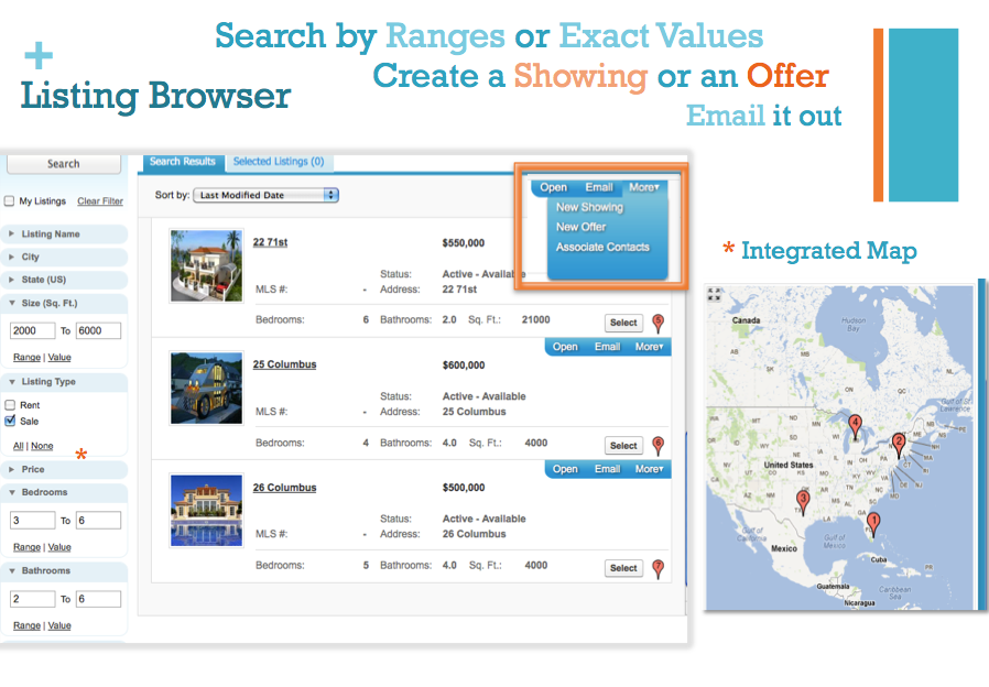 Use Listing Browser to Create an Offer and Email it out