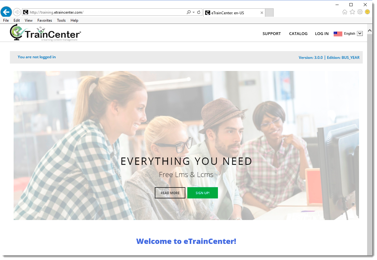 eTrainCenter - Home page