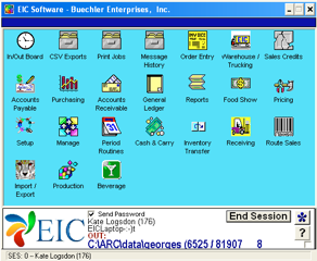 EIC Software - FSC menu