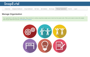 Manage organization page