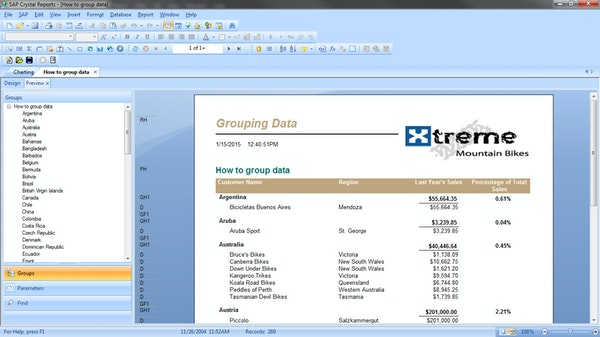 sap crystal reports tutorial for beginners