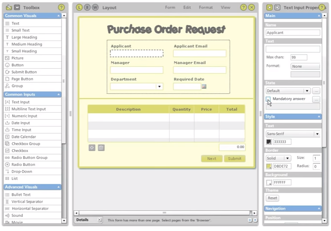 Purchase order request