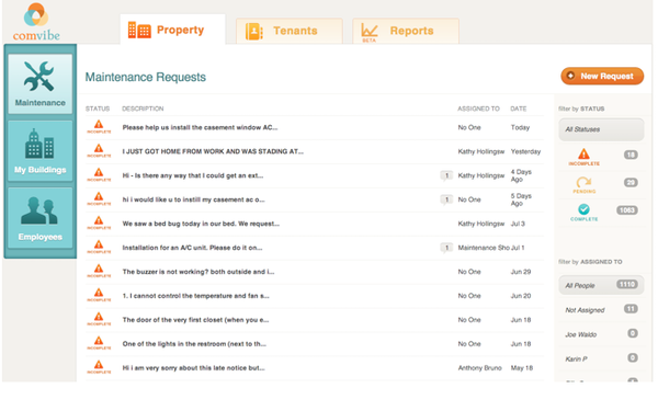 Easily manage and distribute requests within your team via computer or tablet devices.
