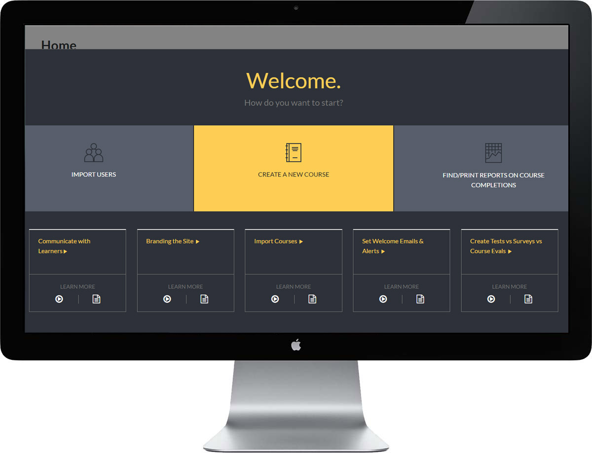 Edvance360 Learning Management System - Homepage
