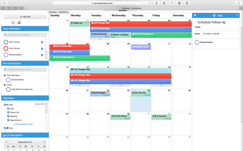 Shared calendar