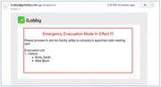 Emergency evacuation alert