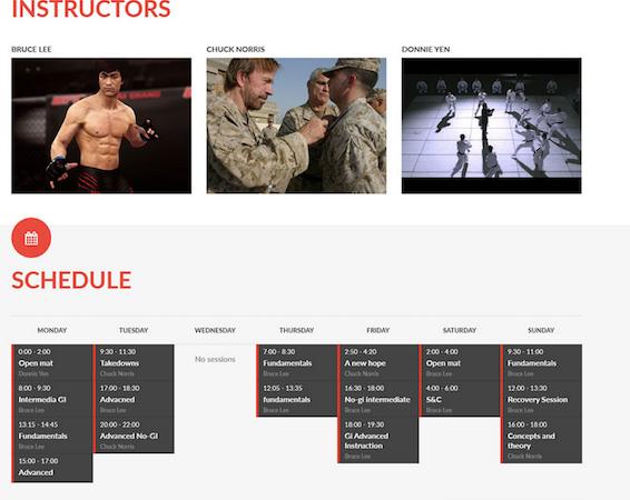 Instructor schedules
