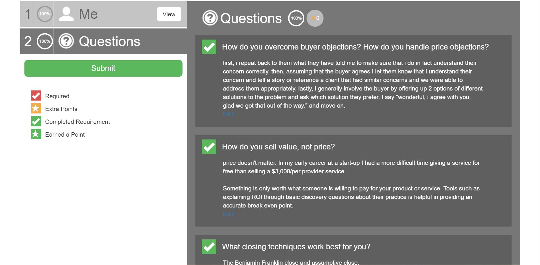 Applicant questions