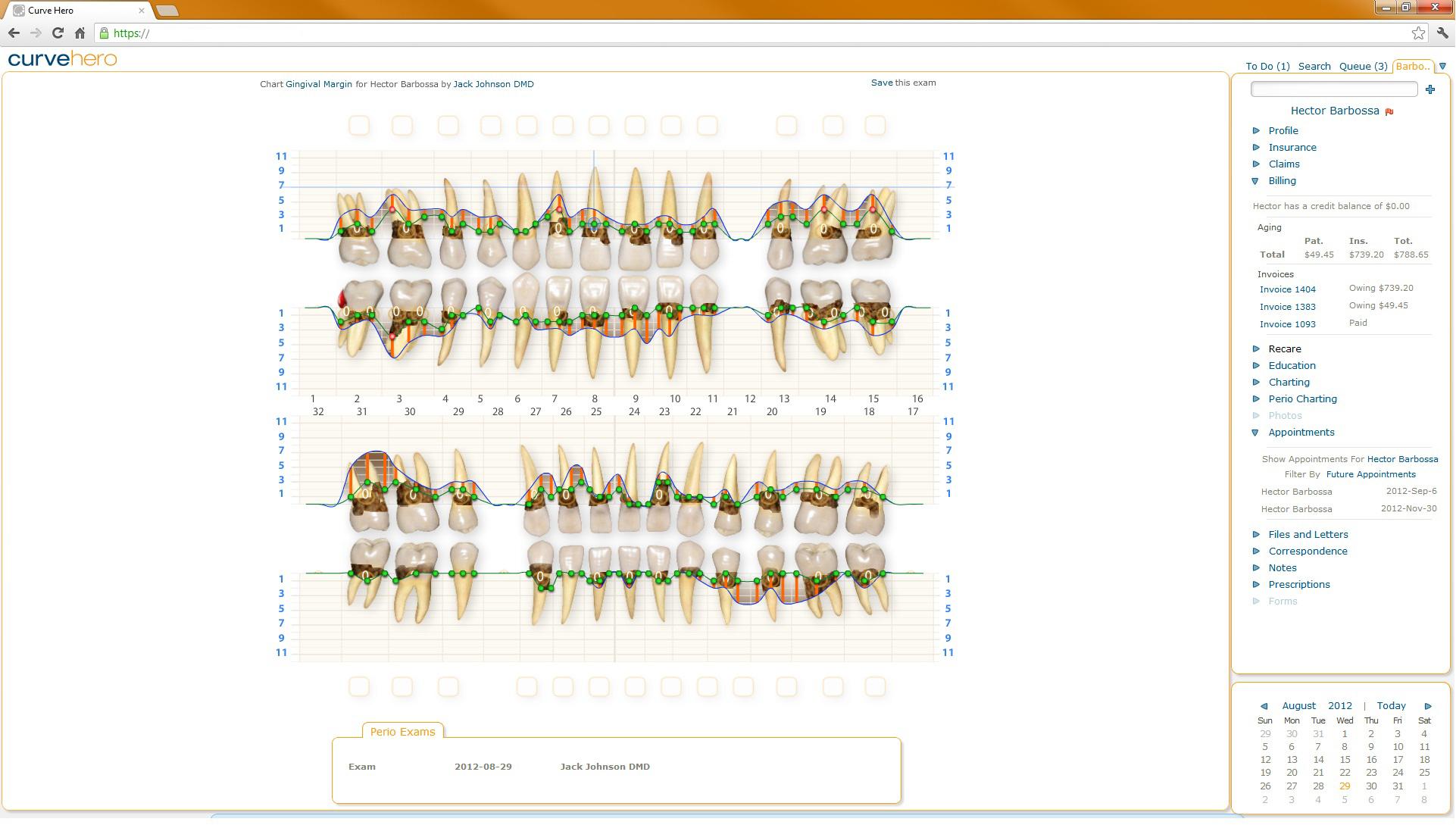 Curve Dental - Custom charts
