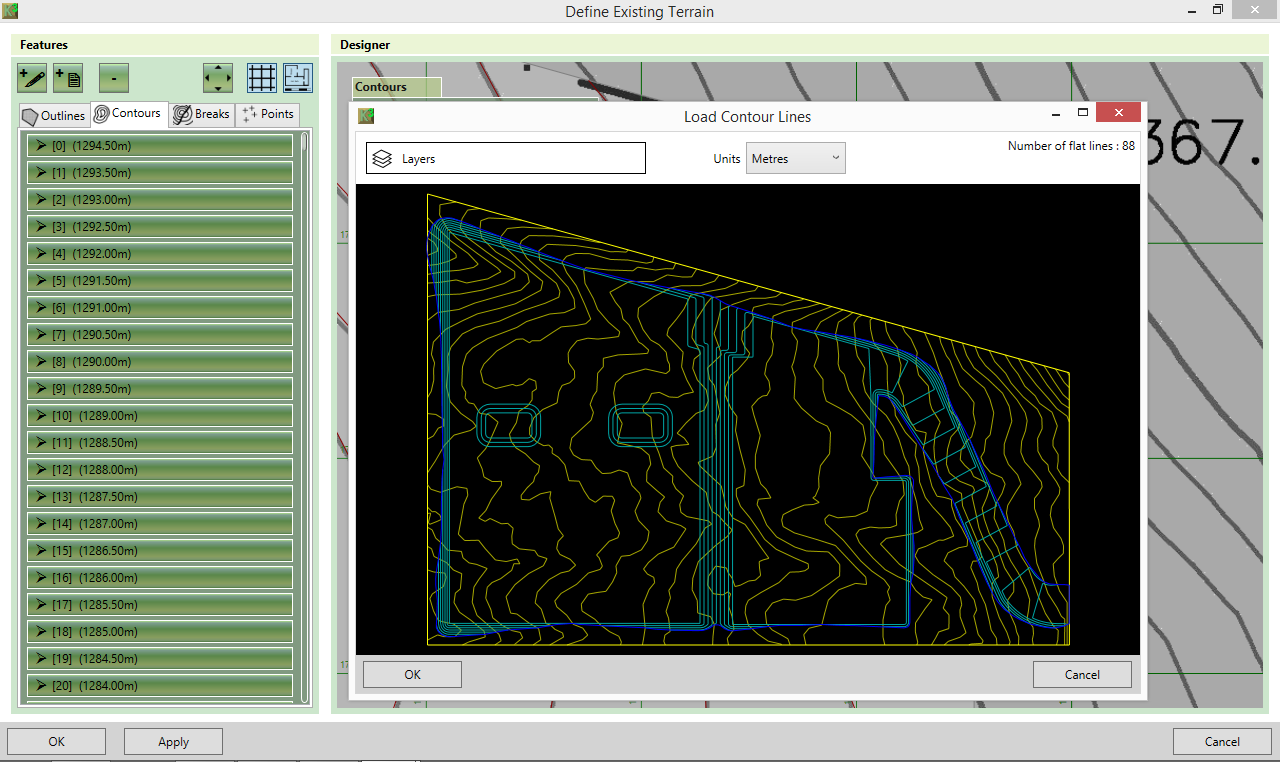 Load contour lines