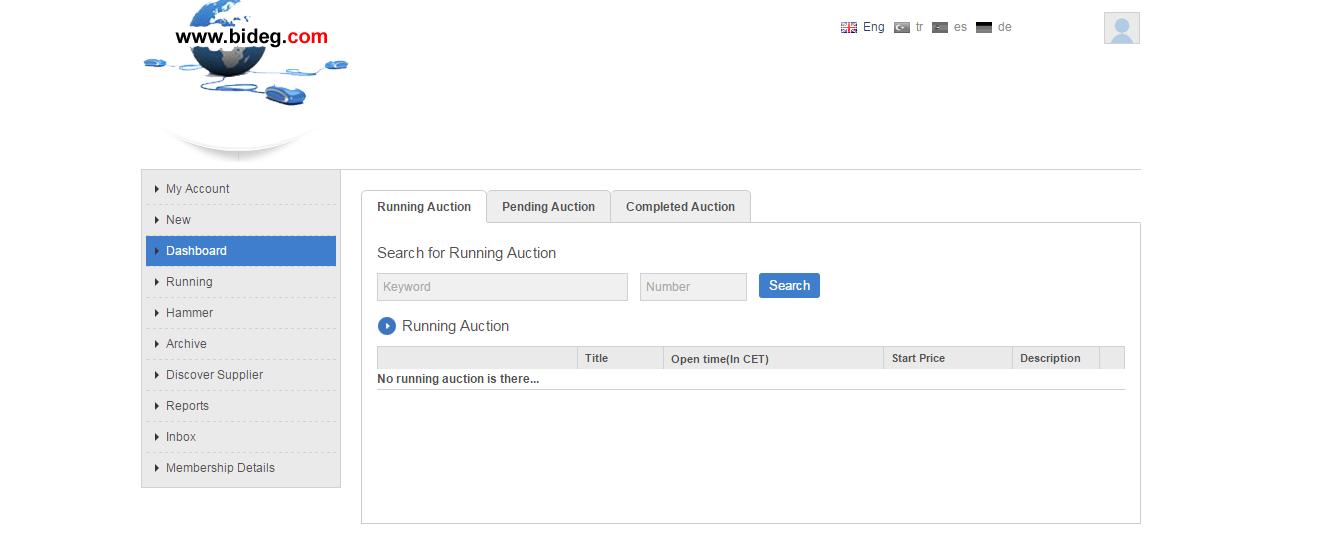 Running auction