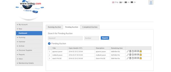 Pending auction