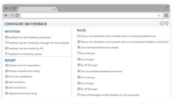 Configure feedback
