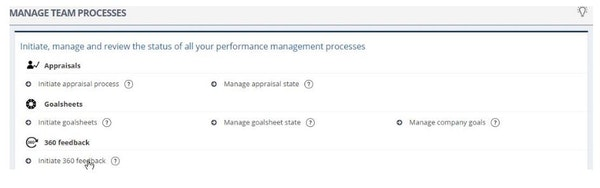 Manage team process