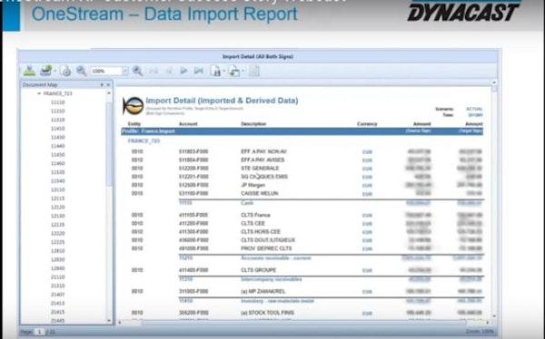 Data import report