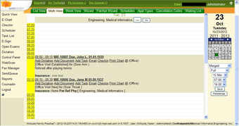 WebChart Scheduling Module
