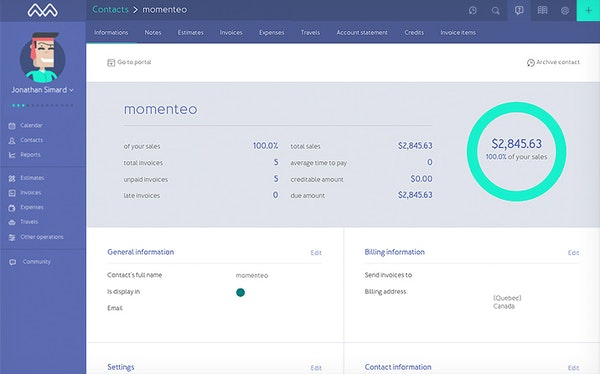 Client dashboard