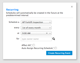 Schedule recurring reminders